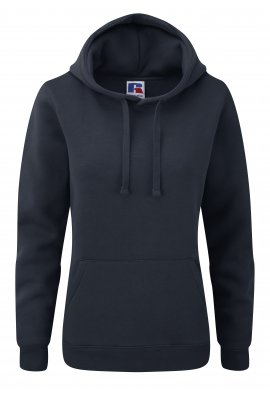 Russell J265F Ladies Fit Medium Weight  Hooded Sweatshirt (Xsmall to Xlarge) 9 COLOURS