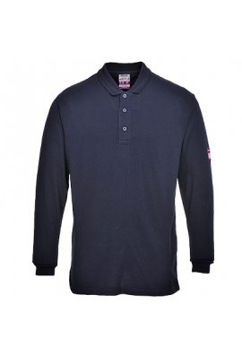 Portwest FR10 Flame-Resistant Anti Static Long Sleeved Polo Shirt (Small to 5XLarge)