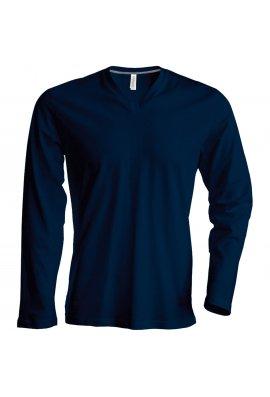 Kariban KB358 Long Sleeved V-Neck T-Shirt (Small To 4XL) 4 COLOURS