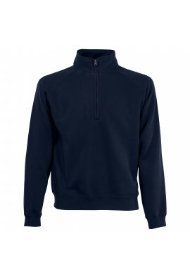 Fruit Of The Loom SS230 Classic 80/20 Zip Neck Sweat (Small to 2XLarge) 7 COLOURS
