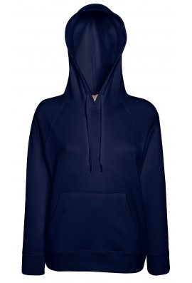 Fruit Of The Loom SS938 Lady-Fit Light Weight Hooded Sweat Shirt (XSmall to 2XL) 12 COLOURS