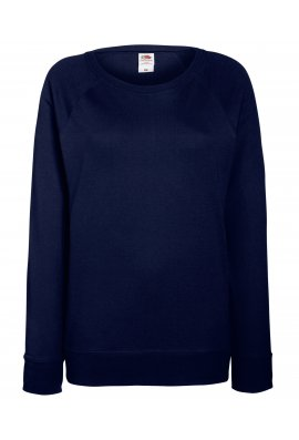 Fruit Of The Loom SS960 Lady-Fit Lightweight Raglan SweatShirt (XSmall To 2XL) 13 Colours