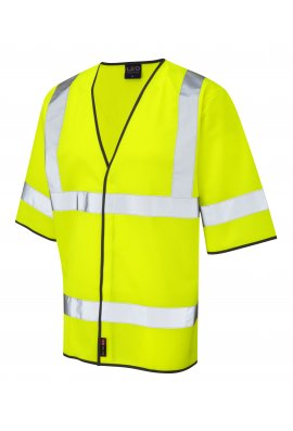 Leo Workwear S02-Y Gorwell Half Sleeve Hi Vis Vests (Small To 6XL)