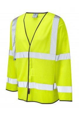 Leo Workwear S04-Y Fremington Coolviz Hi Vis Long Sleeved Vests (Small To 4XL)