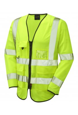 Leo Workwear S12-Y Wrafton Executive Hi Vis Long Sleeved Vests (Small To 6XL)