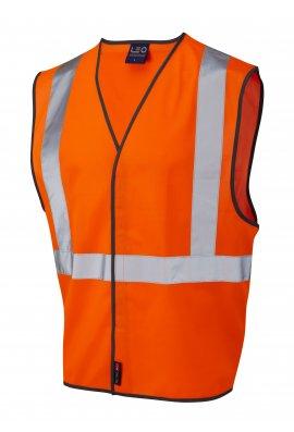 Leo Workwear W14-O Rail Spec Hi Vis Vests (lapford) (Small To 3XL)