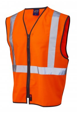 Leo Workwear W15-O Eggesford Hi Vis Vests GORT (Small To 6XL)