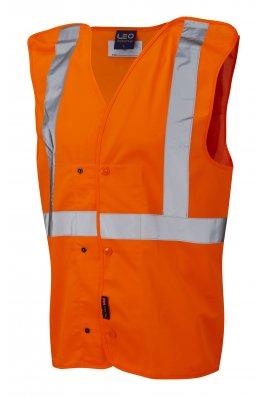 Leo Workwear W18-O Chapleton Hi Vis Vests Gort