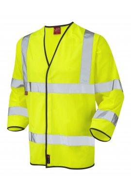 Leo Workwear S06-Y Kentisbury Flame Retardent 3/4 Hi Vis Vests (Small To 4XL)