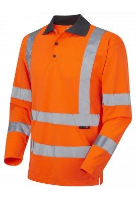 Leo Workwear P06-O Class 3 Woolsery Coolviz Long Sleeve Polo Shirt (Small To 6XL)