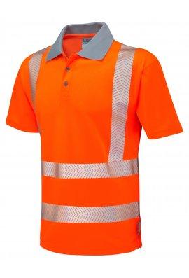 Leo Workwear P03-O Class 2 Woolacombe Coolviz Plus Polo Shirt (Small To 6XL)
