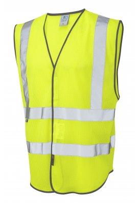 Leo Workwear W04-Y Arlington Coolviz Hi Vis Vests (SMALL To 6XL)