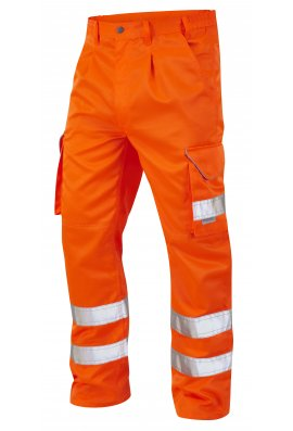 Leo Workwear CT01-O Class 1 Bideford Poly/Cotton Cargo Trousers