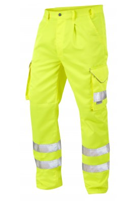 Leo Workwear CT01-Y Class 1 Bideford Poly/Cotton Cargo Trousers
