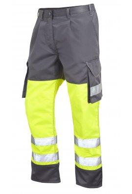 Leo Workwear CT01-Y/GY Class 1 Bideford Poly/Cotton Cargo Trousers