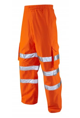 Leo Workwear L02-O Class 1 Instow Executive Railway Cargo OverTrousers (Small To 5XL)