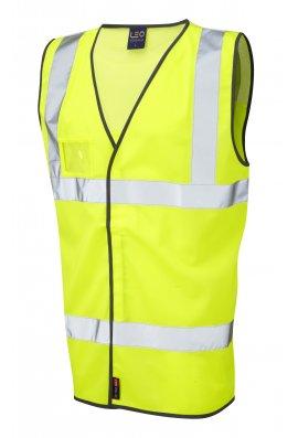 Leo Workwear W03-Y Velator Airport Hi Vis Vests (Medium To 4XL)