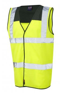 Leo Workwear W09-BT/Y Bradworthy Bottle Yoke Hi Vis Vests (Small To 4XL)