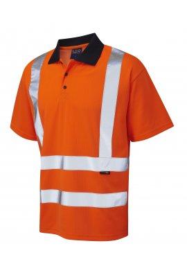 Leo Workwear P01-O Class 2 Croyde Poly/Cotton Polo Shirt (Small To 6XL)