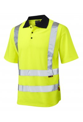 Leo Workwear P01-Y Class 2 Croyde Poly/Cotton Polo Shirt (Small To 6XL)