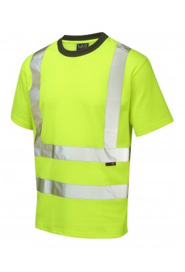 Leo Workwear T01-Y Class 2 Newport Poly/Cotton T-Shirt (Small To 6XL)
