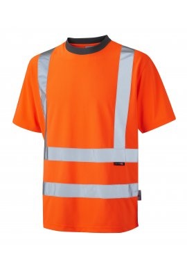 Leo Workwear T02-O Class 2 Braunton Coolviz T-Shirt (Small To 6XL)