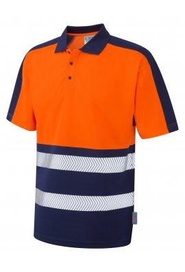 Leo Workwear P10-O/NV Class 1 Dual Colour CoolViz Plus Polo Shirt (Small To 6XL)