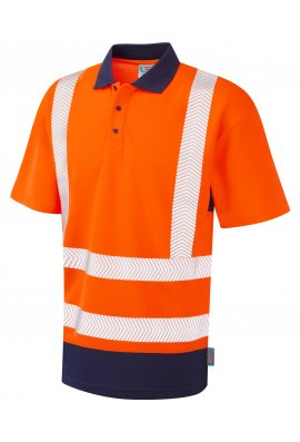Leo Workwear P11-O/NV Class 2 Dual Colour CoolViz Plus Polo (Small To 6XL)