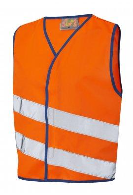 Leo Workwear CW01-O NeonStars Childrens Orange Hi Vis Vest (3/4 To 9/11)
