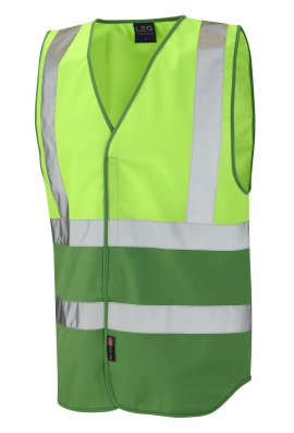 Leo Workwear W05 Two Tone Vis Vests (Non ISO 20471) (XSmall To 4XL) 11 COLOURS
