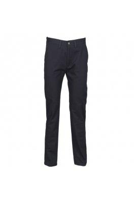 Henbury HB641 Womens 65/35 Flat Fronted Chino Trousers Navy