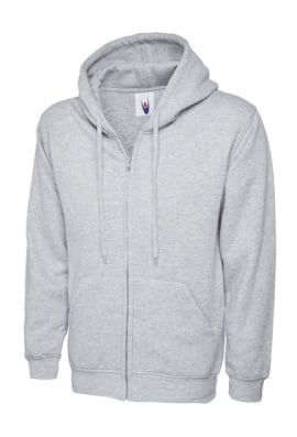 Uneek Classic Full Zip Hooded SweatShirt 50/50 pollycotton (Xsmall to 3Xlarge) 12 COLOURS
