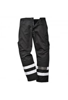 Portwest S917BL Iona Safety Combat Trousers Black