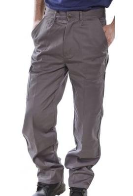 Beeswift PCT9G Click Grey Heavyweight 9oz Polycotton Work Wear Trouser