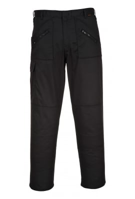 Portwest S887BL Action Trousers Black Available in 36 inch Leg