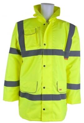 Beechfield CTJF Fleece Lined Traffic Jacket (Small To 6XL)