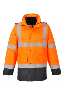 Portwest S471 Hivis 4-In-1 Contrast Traffic Jacket (Small To 3XL)