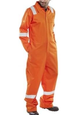 Beeswift CFRASBBSOR Rugan FR/AS Lightweight Boiler Suit - Orange (SmallTo6XL)