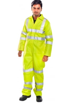 Beeswift CFRASTEBSY Click Tesla FR/AS Boiler Suit Yellow (XS To 6XL)
