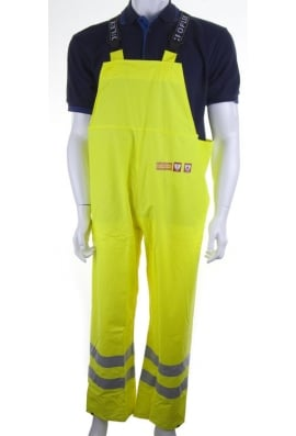 Beeswift CFRLR59SY Click FR/AS WaterProog Bib Trousers - Yellow - (Small To 4XL)