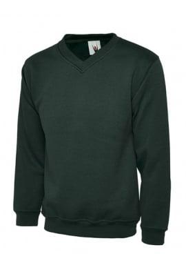 Uneek UC204 Premium V Neck Sweatshirt (Xsmall to 4Xlarge) 4 COLOURS
