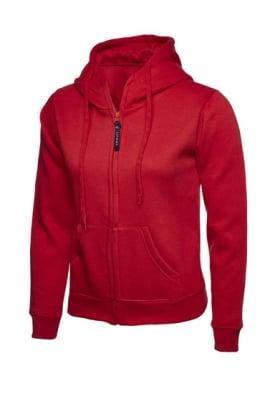 Uneek UC505 Ladies Classic Full Zip Hooded SweatShirt (XSmall to 3Xlarge) 11 COLOURS