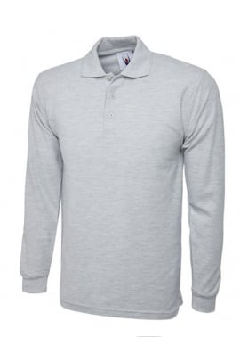 Uneek UC113 Longsleeved Polo Shirt (Xsmall To 4XL) 7 COLOURS