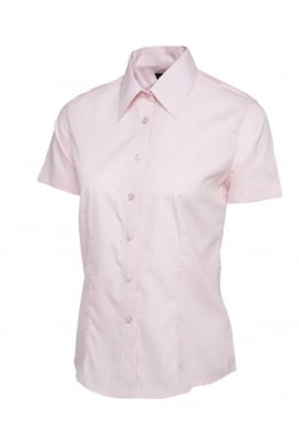 Uneek UC712 Ladies Poplin Half Sleeve Shirt (Size 8 to Size 24) 7 COLOURS