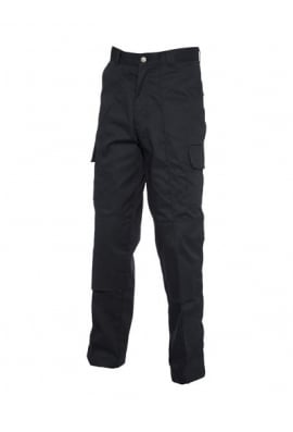 Uneek UC904 Cargo Trousers With Knee Pad Pockets Black