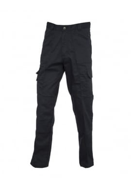 Uneek UC903 Action Work Trousers Black (Zipped Pockets)
