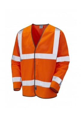 Leo Workwear S04-O Fremington Class 3 Coolviz Sleeved Waistcoat (SmallTo4XL)