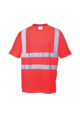 Portwest S478R Hivis T-Shirt (Red) (XSmall to 5XL)