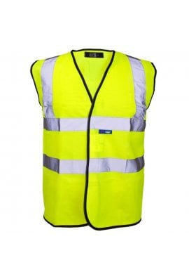 HVW LTD HVW101 Standard Hi Vis Vest (Small to 5XL) Yellow  or Orange
