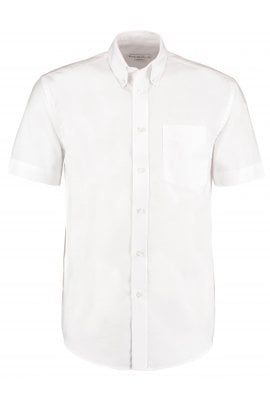 Kustom Kit KK350 WorkWear Oxford Short Sleeved Shirt (Collar Size 14.5 To 19.5) 5 COLOURS